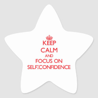 Keep Calm and focus on Self-Confidence Sticker