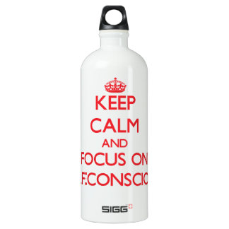 Keep Calm and focus on Self-Conscious SIGG Traveler 1.0L Water Bottle