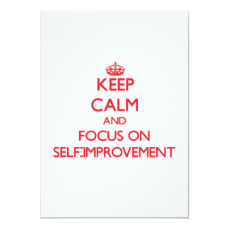 "Keep Calm and focus on Self-Improvement 5"" X 7"" Invitation Card"
