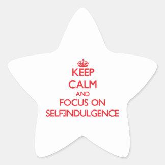 Keep Calm and focus on Self-Indulgence Star Sticker