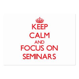 Keep Calm and focus on Seminars Business Card Templates