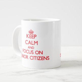 Keep Calm and focus on Senior Citizens Jumbo Mug
