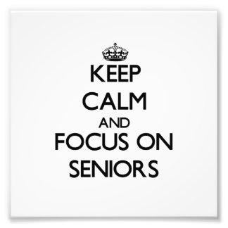 Keep Calm and focus on Seniors Photo