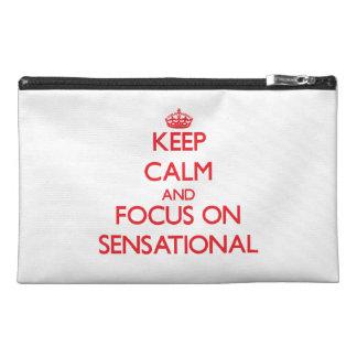 Keep Calm and focus on Sensational Travel Accessory Bag