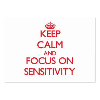 Keep Calm and focus on Sensitivity Business Card Templates