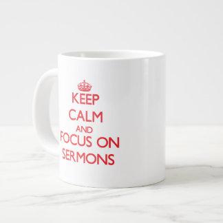 Keep Calm and focus on Sermons Jumbo Mugs