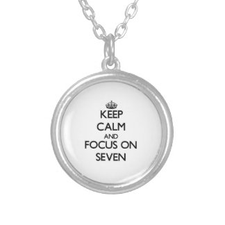 Keep Calm and focus on Seven Personalized Necklace