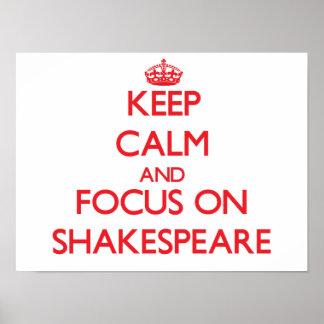 Keep Calm and focus on Shakespeare Print