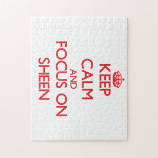 Keep Calm and focus on Sheen Jigsaw Puzzles