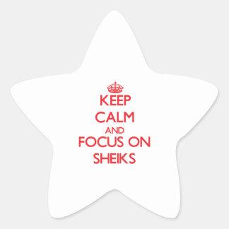 Keep Calm and focus on Sheiks Star Sticker