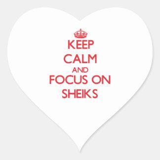 Keep Calm and focus on Sheiks Heart Sticker