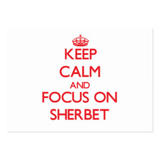Keep Calm and focus on Sherbet Large Business Cards (Pack Of 100)