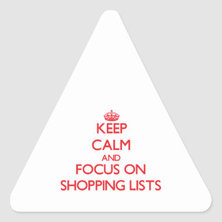 Keep calm and focus on Shopping Lists Stickers