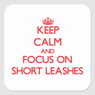 Keep Calm and focus on Short Leashes Square Sticker