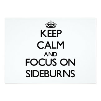 """Keep Calm and focus on Sideburns 5"""" X 7"""" Invitation Card"""