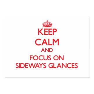 Keep Calm and focus on Sideways Glances Business Card Templates