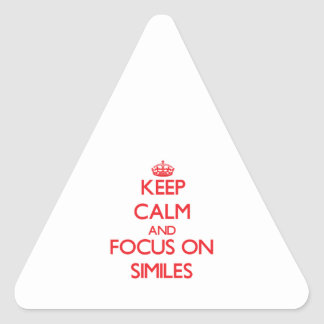 Keep Calm and focus on Similes Triangle Sticker