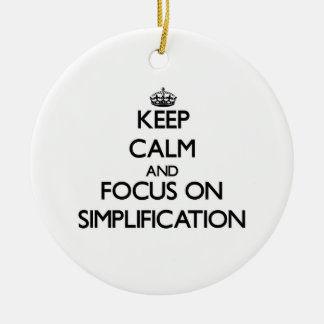 Keep Calm and focus on Simplification Double-Sided Ceramic Round Christmas Ornament