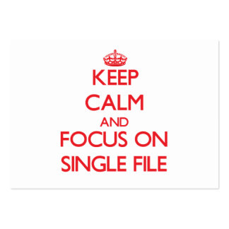 Keep Calm and focus on Single File Business Card Template
