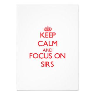 Keep Calm and focus on Sirs Custom Invite