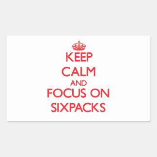 Keep Calm and focus on Sixpacks Rectangular Sticker