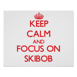 Keep calm and focus on Skibob Posters