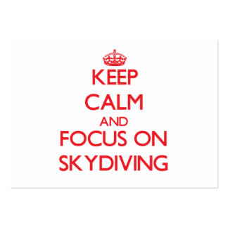 Keep Calm and focus on Skydiving Business Card Template