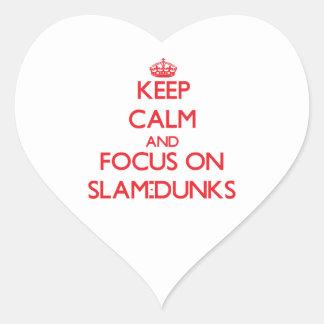Keep Calm and focus on Slam-Dunks Heart Sticker