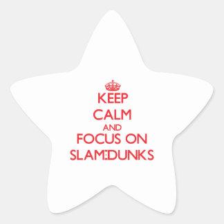 Keep Calm and focus on Slam-Dunks Star Sticker
