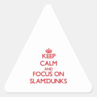 Keep Calm and focus on Slam-Dunks Triangle Sticker