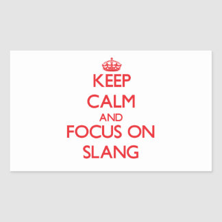 Keep Calm and focus on Slang Rectangular Stickers