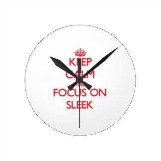 Keep Calm and focus on Sleek Clocks