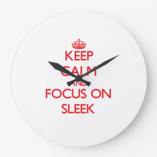 Keep Calm and focus on Sleek Wallclock