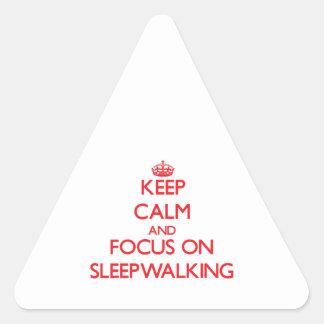 Keep Calm and focus on Sleepwalking Triangle Sticker