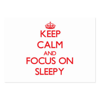 Keep Calm and focus on Sleepy Large Business Cards (Pack Of 100)