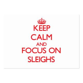 Keep Calm and focus on Sleighs Business Card Template