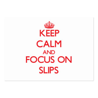 Keep Calm and focus on Slips Large Business Cards (Pack Of 100)