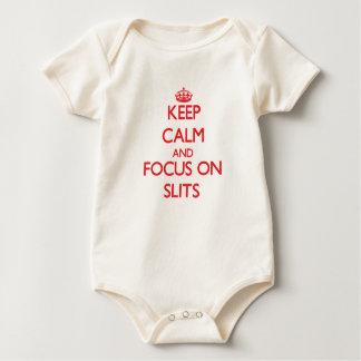 Keep Calm and focus on Slits Baby Bodysuit