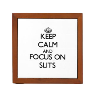 Keep Calm and focus on Slits Desk Organizers
