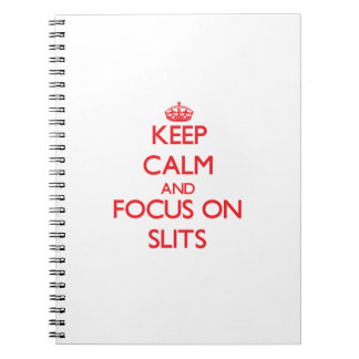 Keep Calm and focus on Slits Spiral Note Book