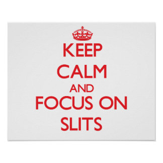 Keep Calm and focus on Slits Poster