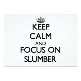 "Keep Calm and focus on Slumber 5"" X 7"" Invitation Card"
