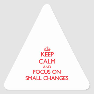 Keep Calm and focus on Small Changes Triangle Sticker