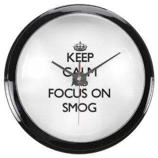 Keep Calm and focus on Smog Aquarium Clock