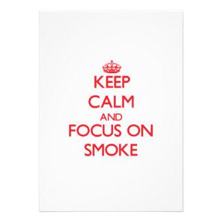 Keep Calm and focus on Smoke Custom Announcements
