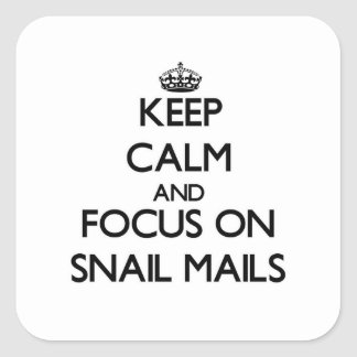 Keep Calm and focus on Snail Mails Sticker