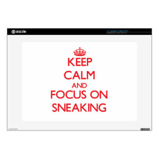 Keep Calm and focus on Sneaking Laptop Decal