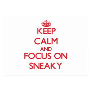 Keep Calm and focus on Sneaky Business Card Templates