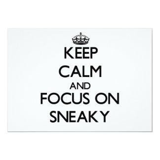 Keep Calm and focus on Sneaky Personalized Announcements