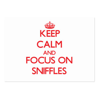 Keep Calm and focus on Sniffles Large Business Cards (Pack Of 100)